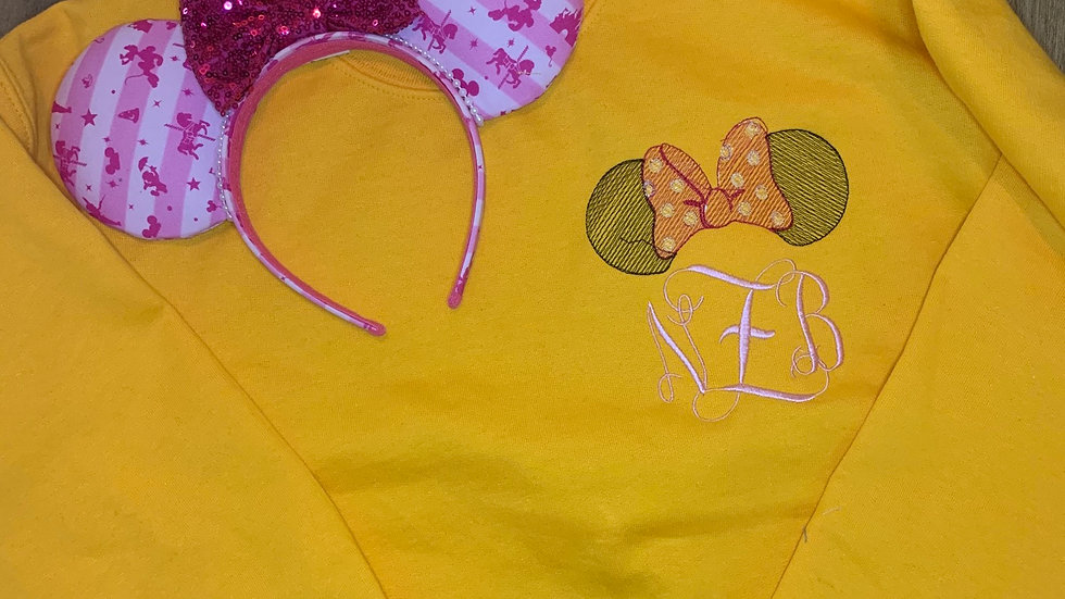 Minnie Mouse Monogram embroidered hoodie, pullover, 1/4 zip