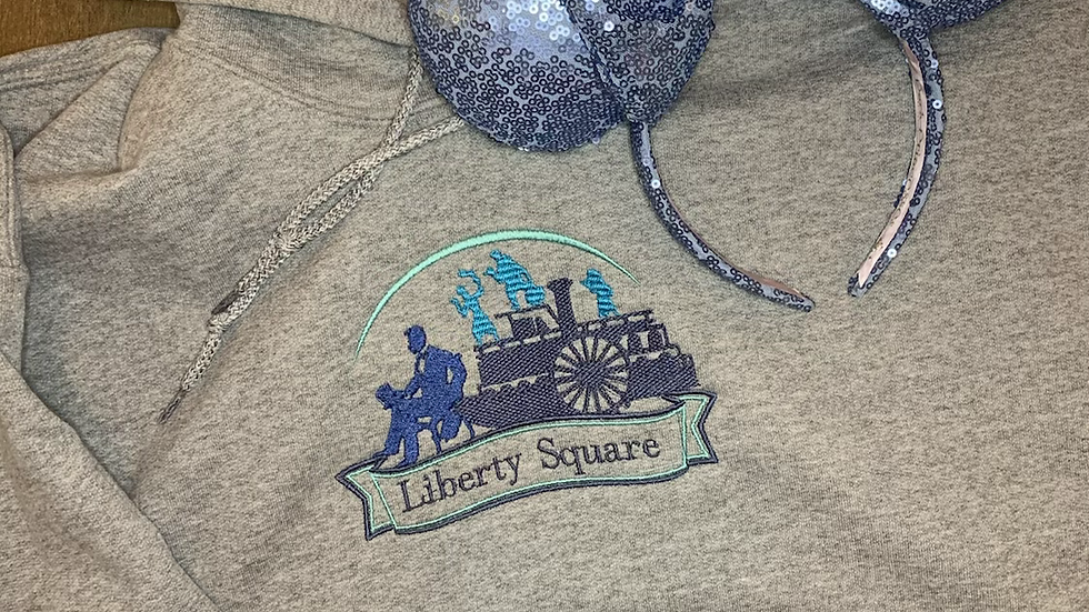 Liberty Square Embroidered Hoodie, Pullover or 1/4 Zip