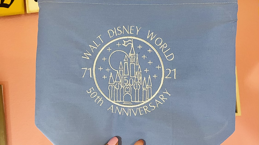 Walt Disney World 50th Anniversary Circle towels, makeup bag, tote