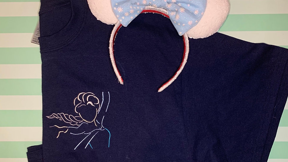 Elsa embroidered T-Shirt or tank top