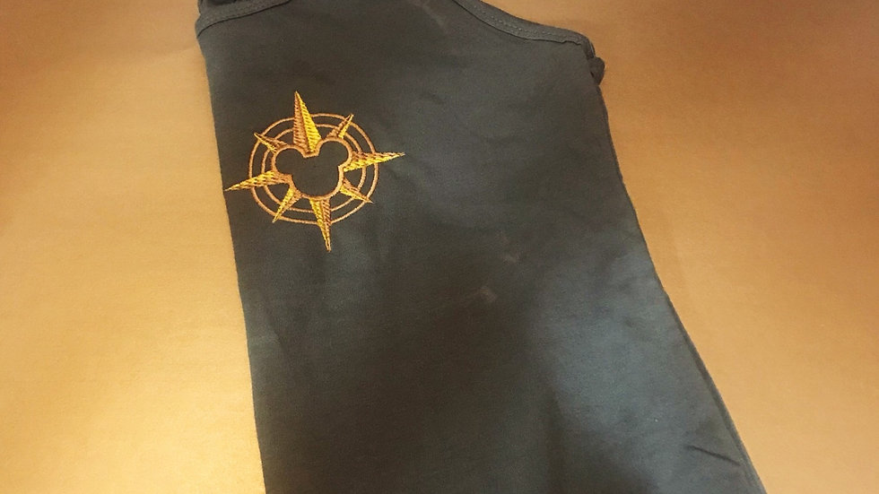 Mouse Compass Cruise Line embroidered Tank top/ T-shirt