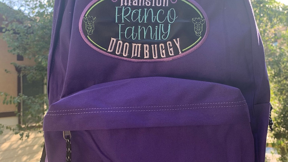 Haunted Mansion Doombuggy embroidered backpack
