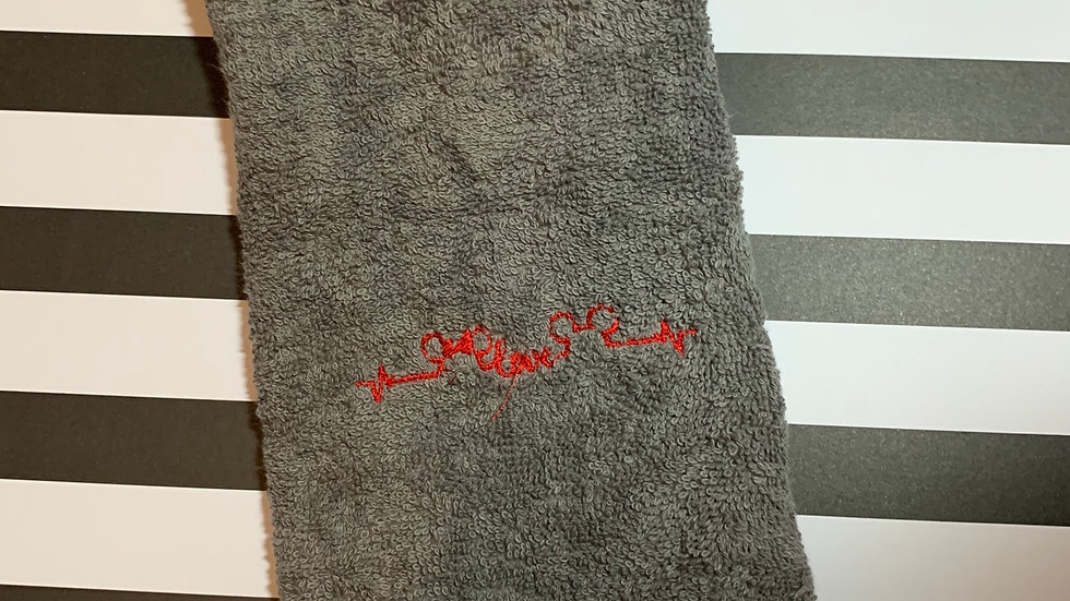 Minnie and Mickey love EKG embroidered towels, blanket, makeup ba