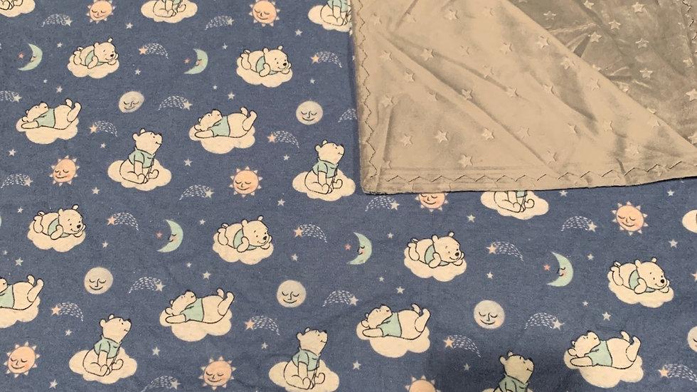 Baby Pooh minky blanket