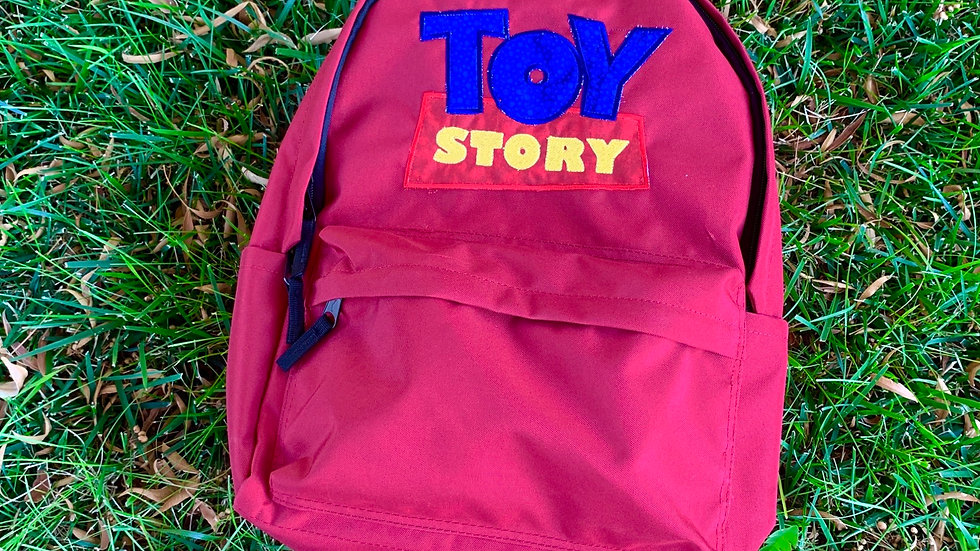 Toy story logo embroidered backpack