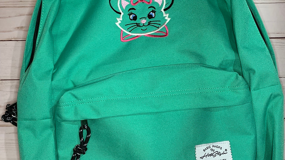 Marie Cat Mouse embroidered backpack
