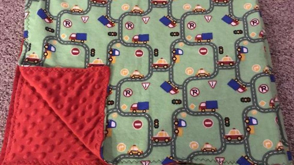 Road way minky blanket