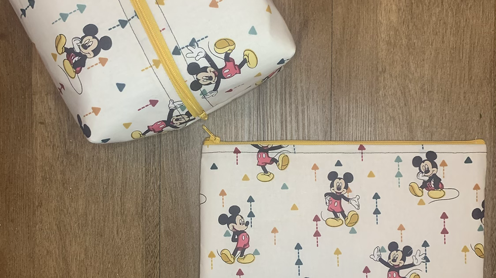 Mickey Arrows Makeup Bag or Boxy Bag