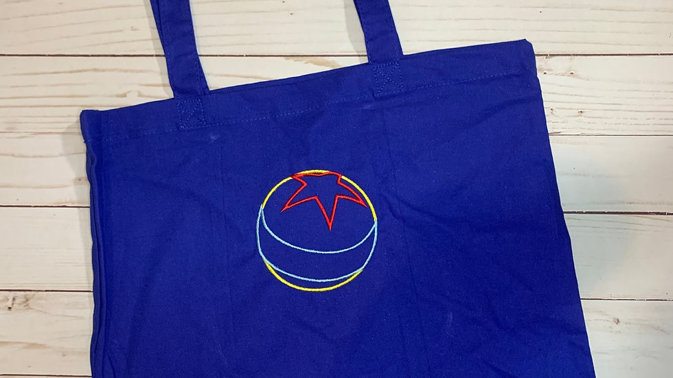 Pixar ball embroidered market tote