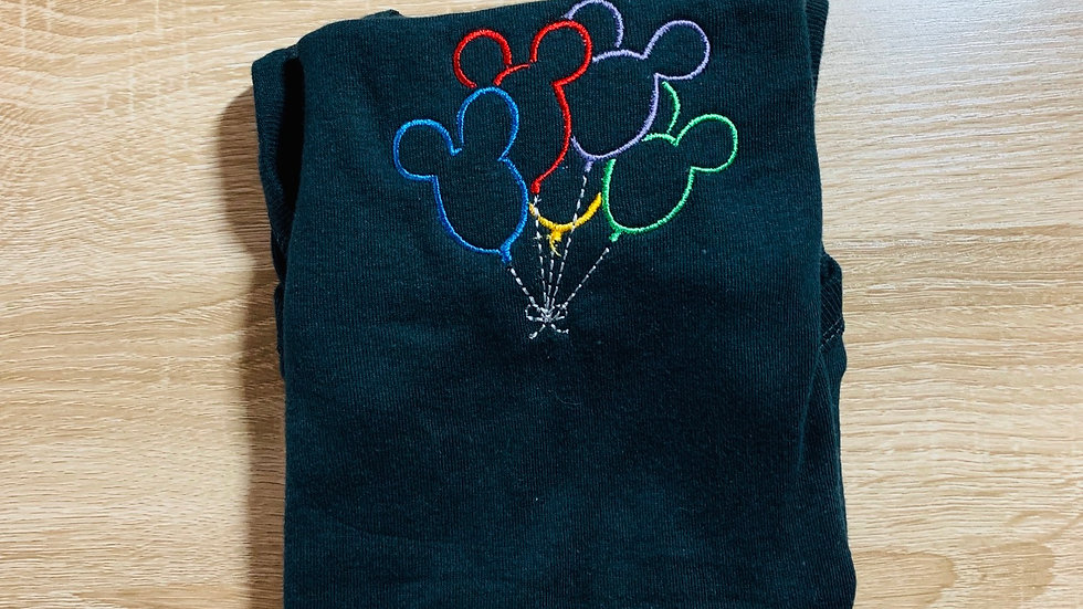 Mickey balloon embroidered T-Shirt or tank top