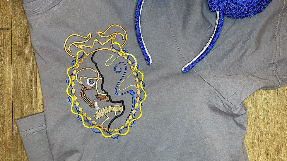 Beast and Belle embroidered t-shirt or tank