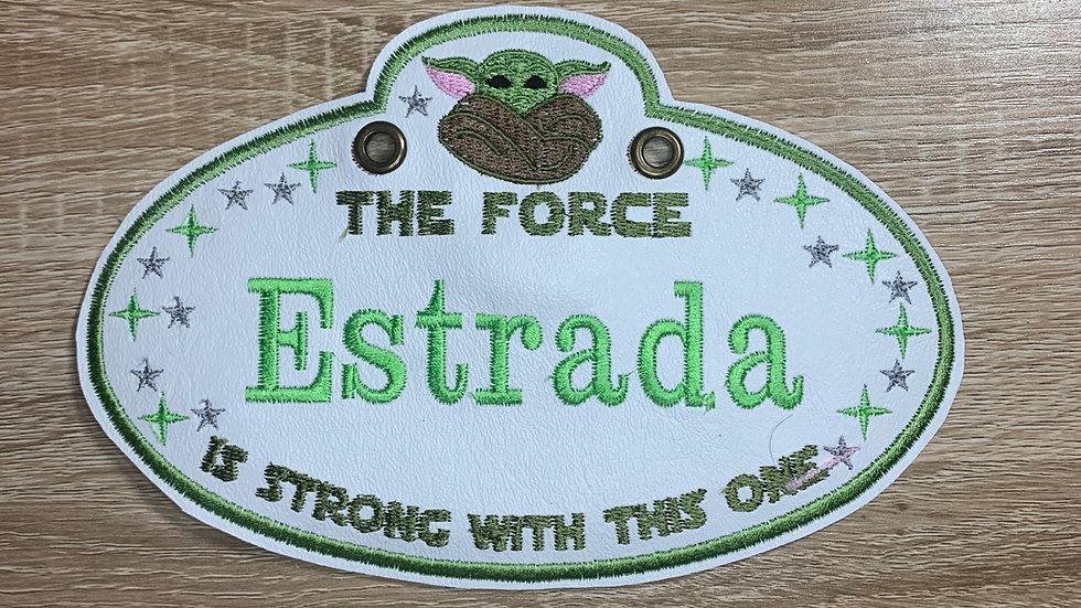 Baby Yoda Stroller Tag