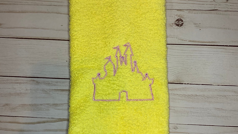 Castle Outline embroidered towels, blanket, make