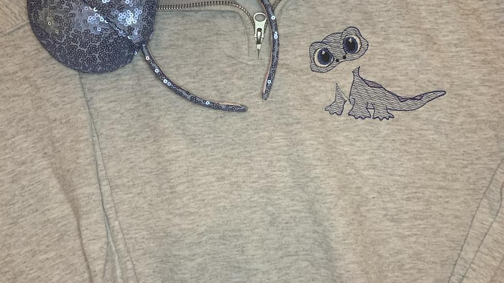 Bruni Bean Stitch embroidered hoodie, pullover, 1/4 Zip