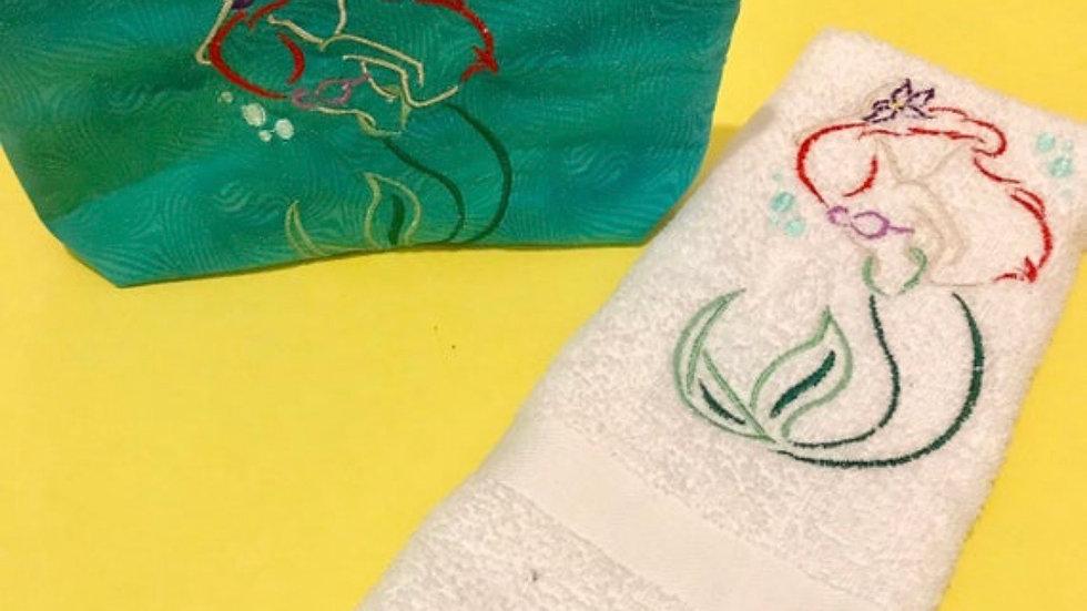 Little Mermaid Hand Towel/Bath towel/makeup bag / blanket