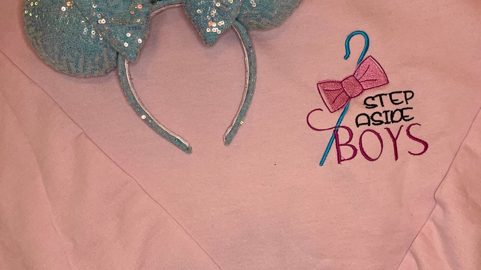 Step Aside Boys - Bo Peep embroidered hoodie, pullover, 1/4