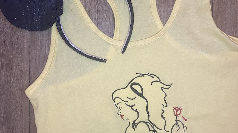 Beauty and the Beast embroidered t-shirt or tank