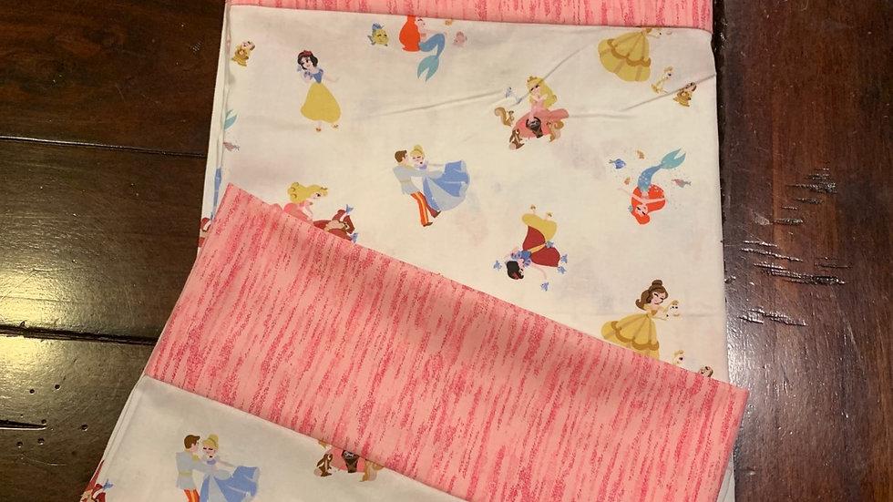 Tiny Princesses standard pillowcase set - Free name embroidery