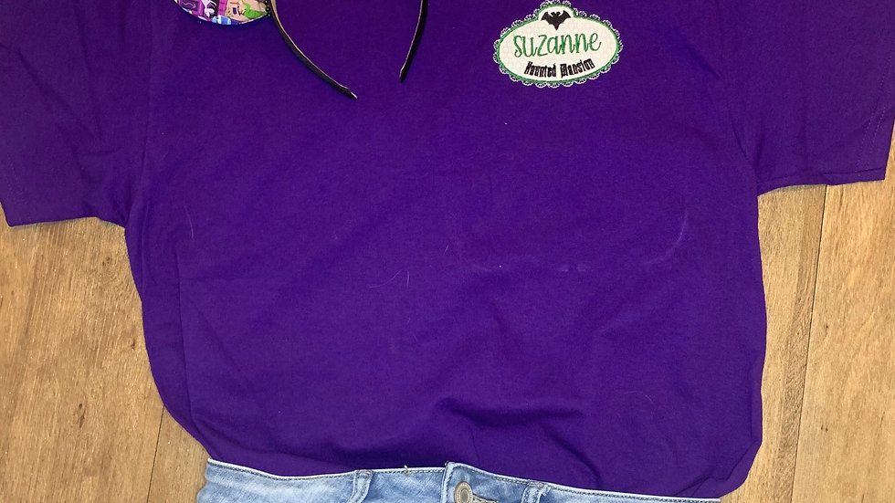 Haunted Mansion embroidered t-shirt or tank Top