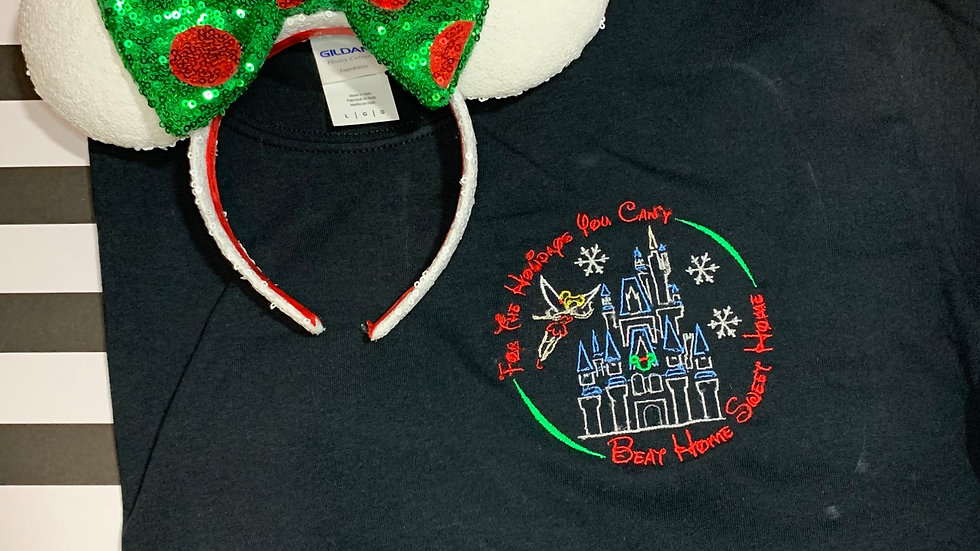 For the Holidays you cant beat home sweet home embroidered T-Shirt or tank