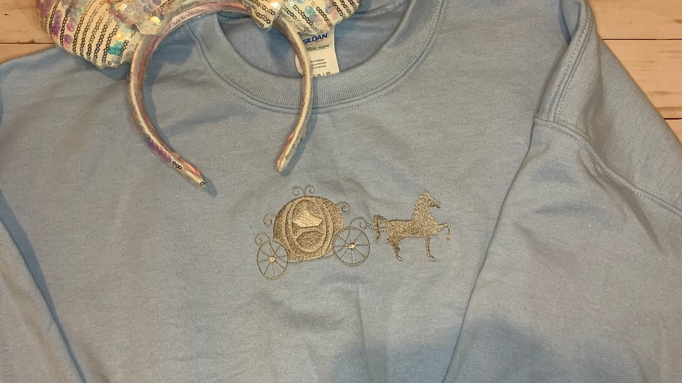 Cinderella'a Carriage embroidered hoodie, pullover, 1/4 zip
