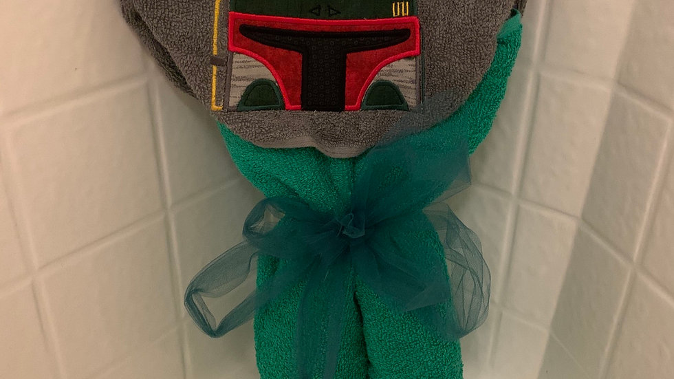 Boba Fett Bounty Hunter embroidered hooded towel