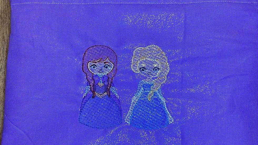 Frozen Sisters towels, makeup bag, tote