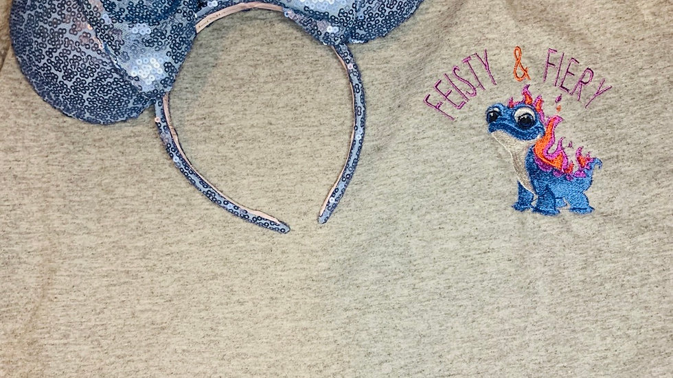Fiesty and Fiery Bruni embroidered t-shirt or tank top