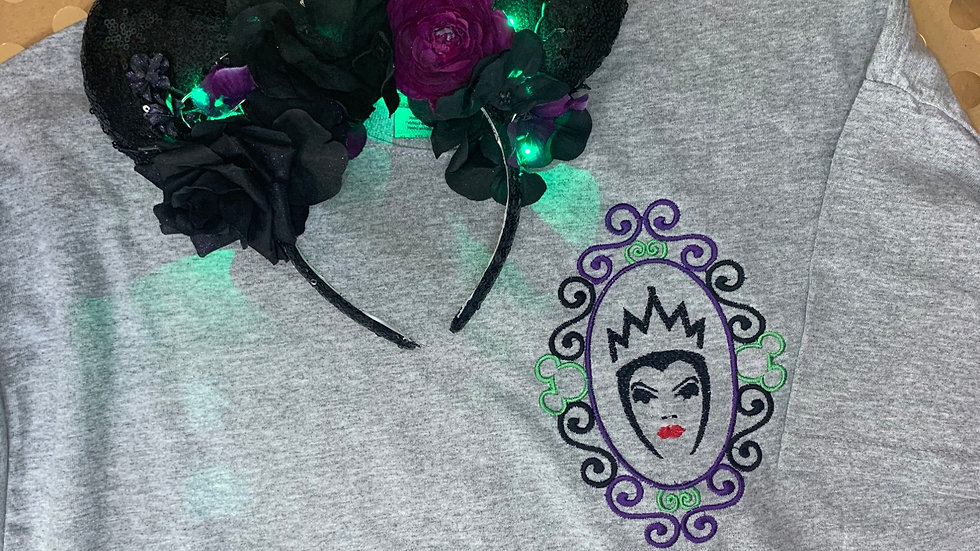 Evil Queen Frame embroidered t-shirt or tank top