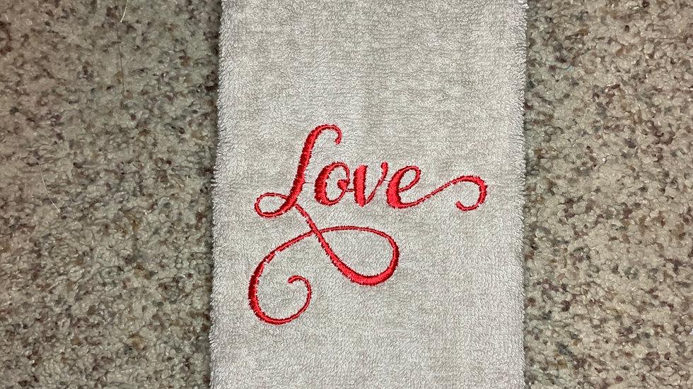 Love bath towels / hand towels