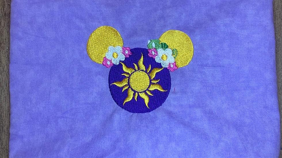 Rapunzel Mouse embroidered makeup bag, tote bag, blanket, towels