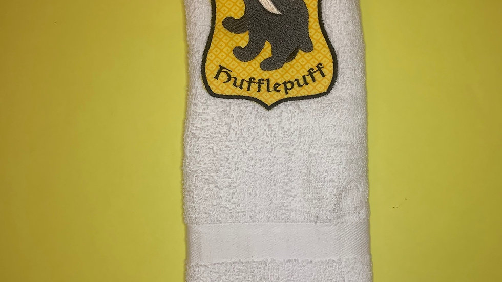 Hufflepuff Crest towels, makeup bag, tote