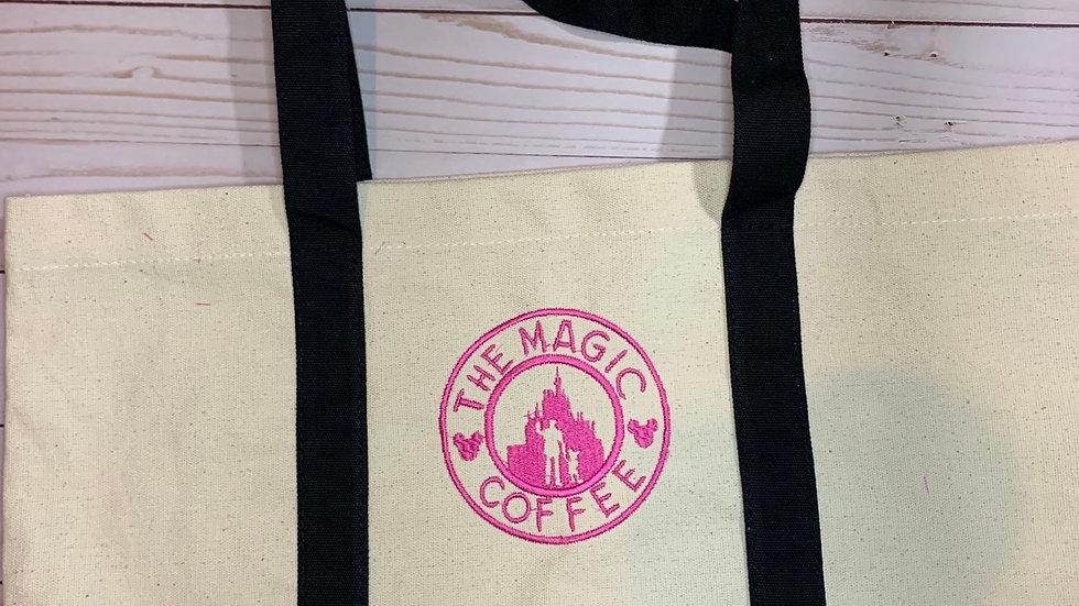 Magic Coffee Company pocket tote