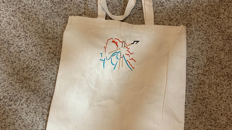 Merida embroidered market tote