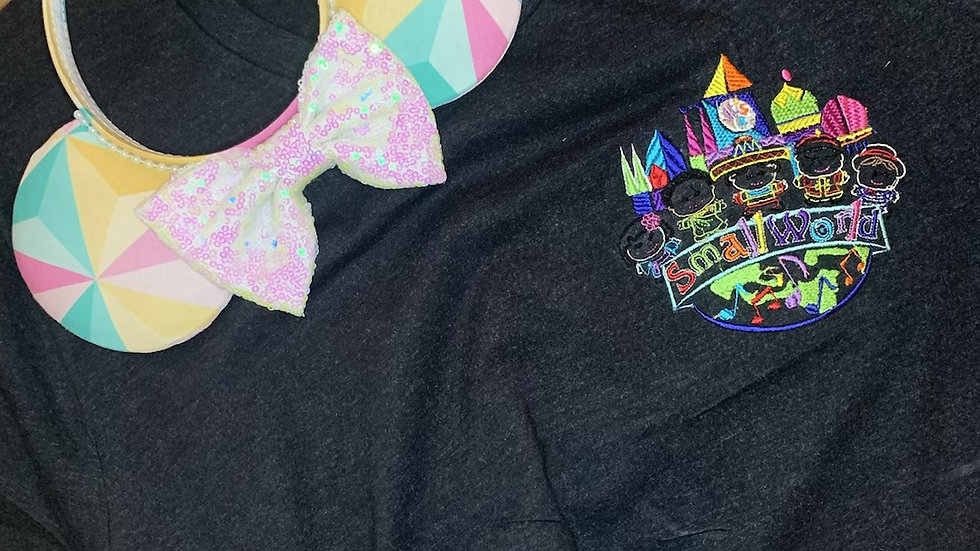 It's A Small World After All Embroidered Tee or Tank