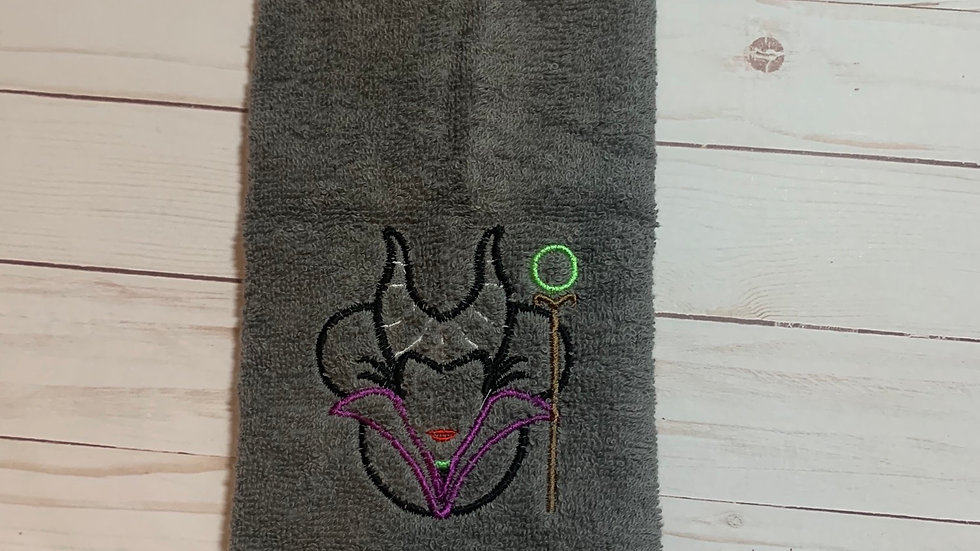 Maleficent Mouse embroidered towels, blanket, makeup b