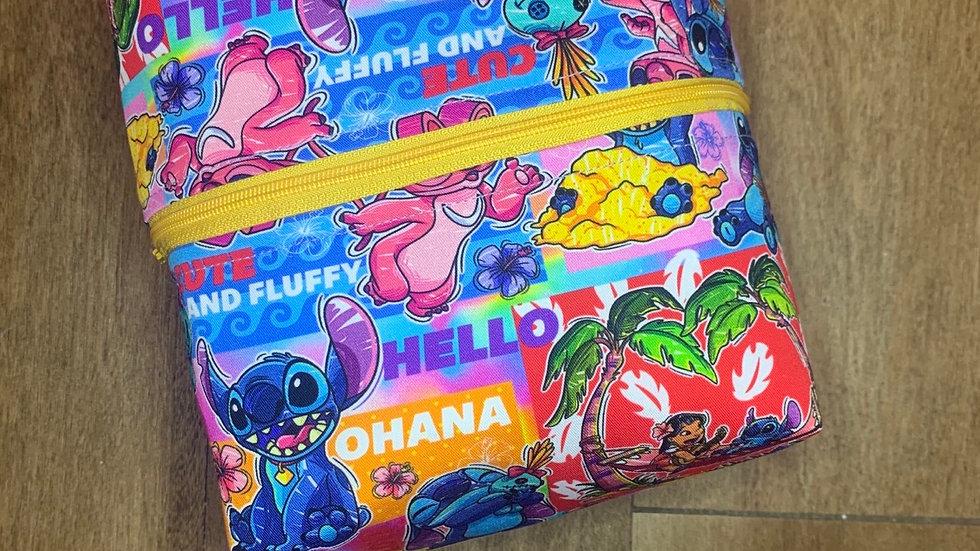 Stitch and Angel Makeup Bag or Boxy Bag