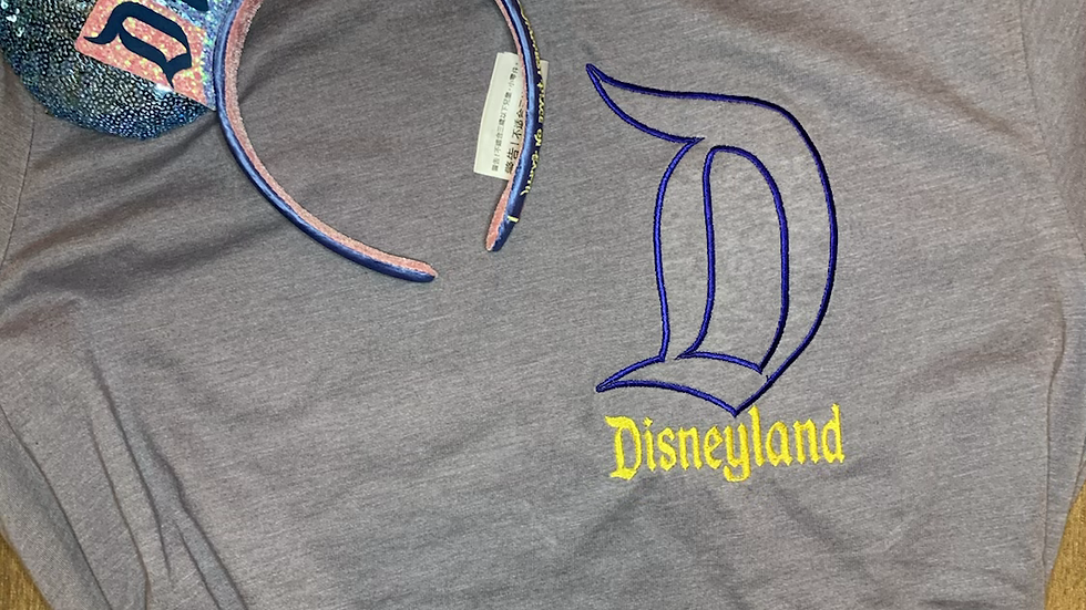 Disneyland embroidered t-shirt or tank