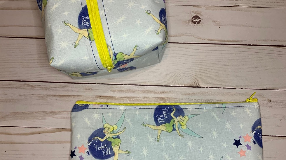 Tinkerbell boxy bag or makeup bag
