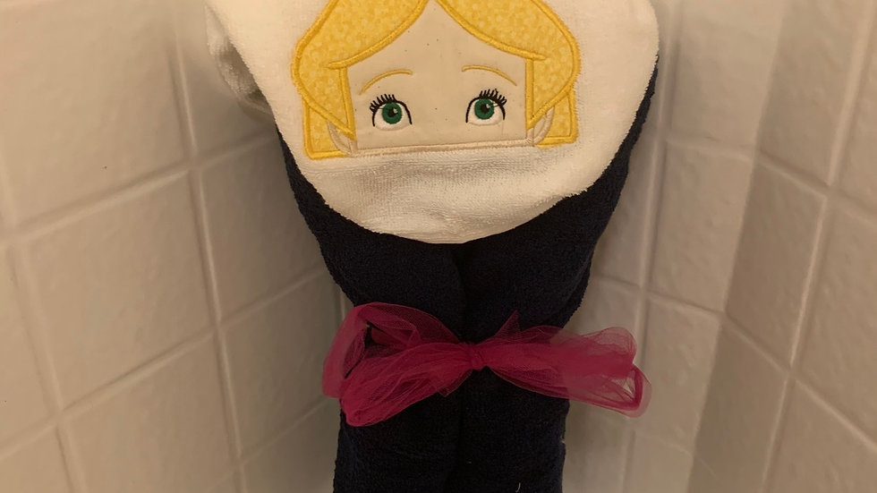 Alice in Wonderland embroidered hooded towel