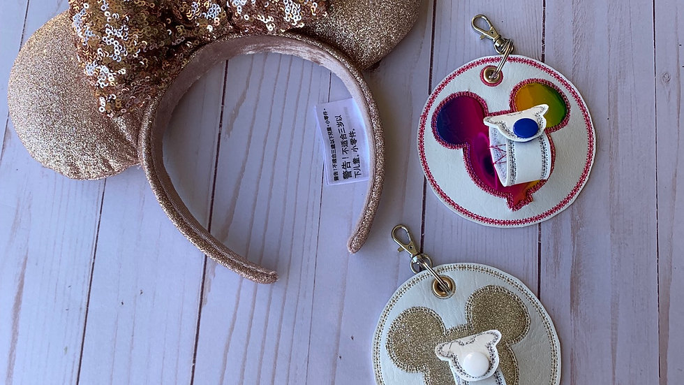 Design your own mickey balloon embroidered hat or ear holder keychain