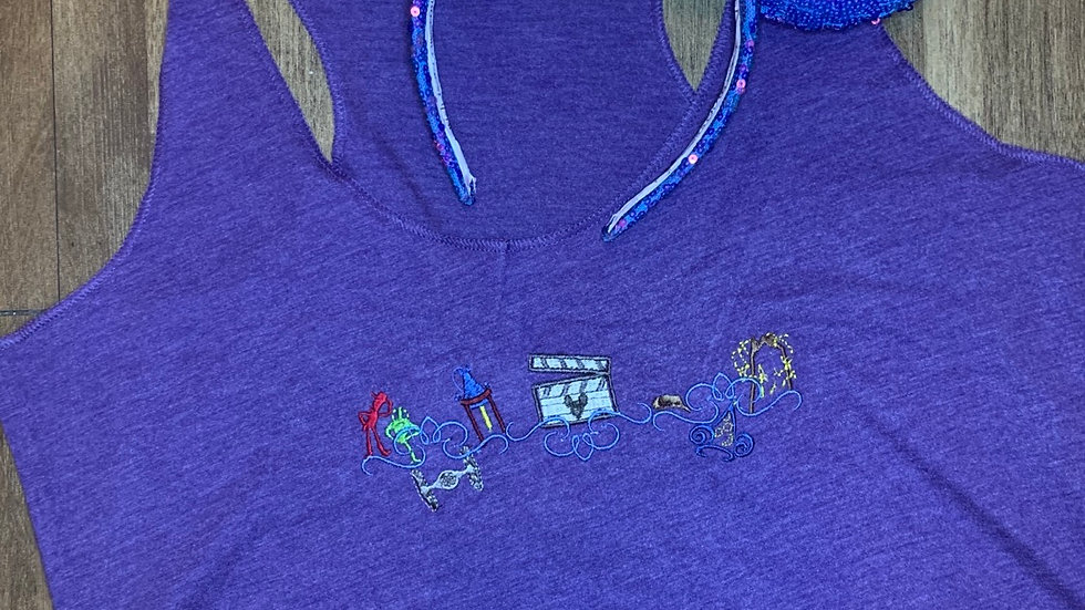 Hollywood Studios Motif embroidered t-shirt or tank