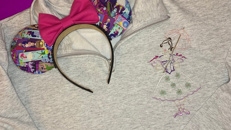 Haunted Mansion Tightrope Girl embroidered hoodie, pullover, 1/4 zip