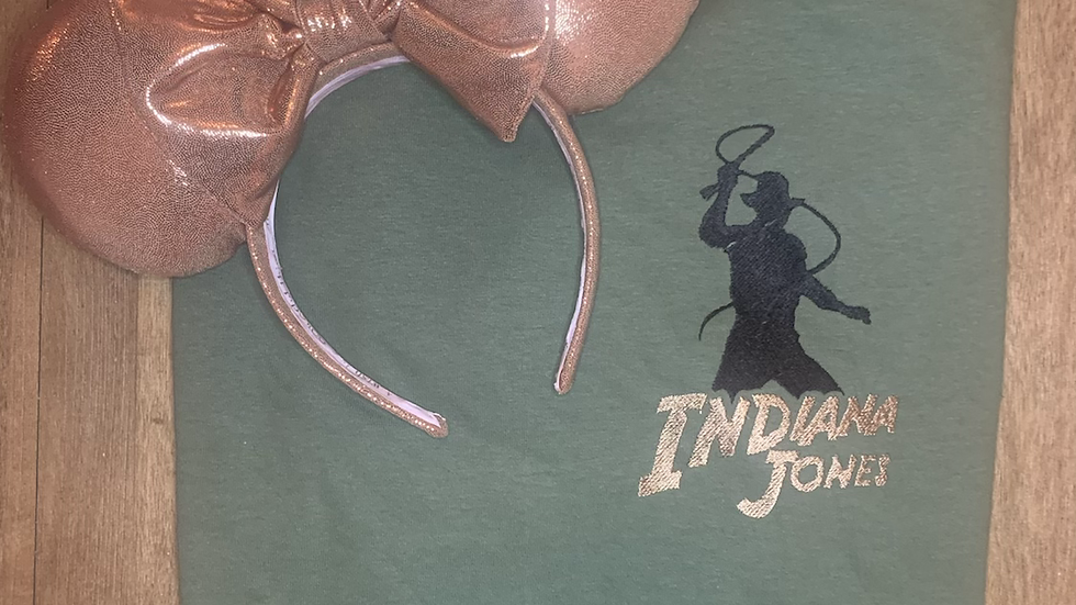 Indiana Jones embroidered t-shirt or tank Top