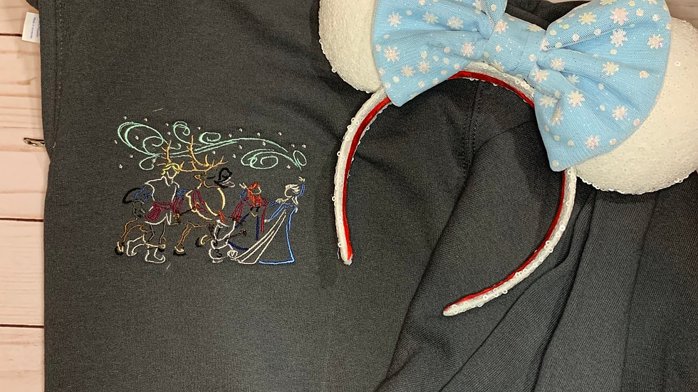 Frozen 2 Parade embroidered hoodie, pullover, 1/4 zip
