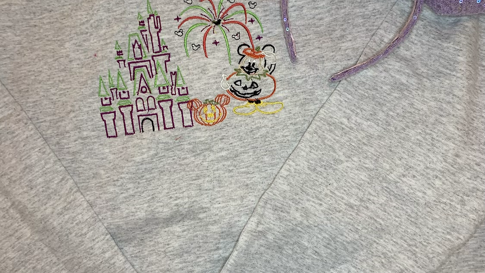 Mickeys Not so Scary Halloween Castle embroidered hoodie or pullover