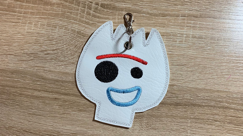 Forky backpack keychain / charm - pin holder display