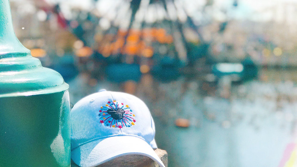 Fireworks Mickey Mouse embroidered Hat