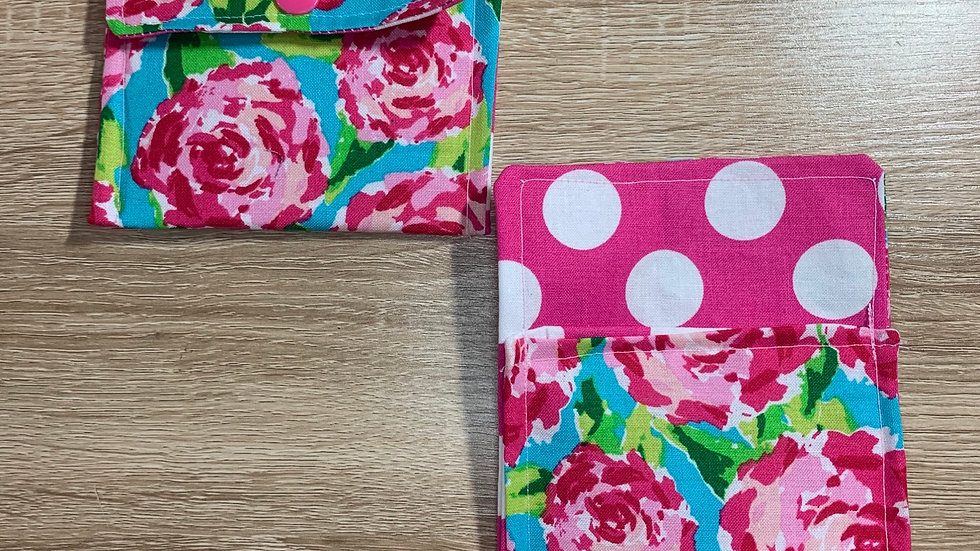 Lily P Roses Card Wallet