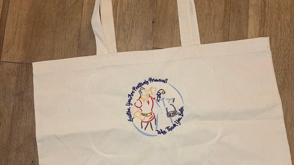 Belle and Gaston Large Canvas tote